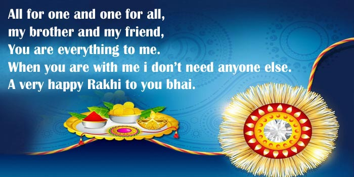 Rakhi Messages for brothers