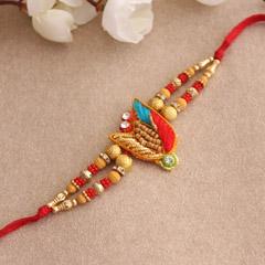 Stunning Red Zardosi Rakhi