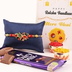 Elegant Peacock Rakhi and Cadbury - Send Rakhi to Canada