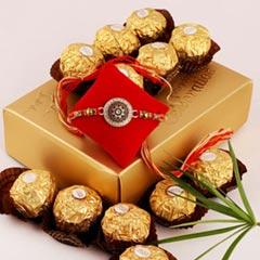 Classic Rakhi & 12pc Ferrero Rocher