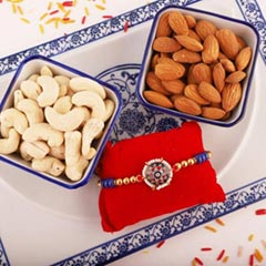 Colorful Rakhi with Cashew Almond - Send Rakhi to Canada