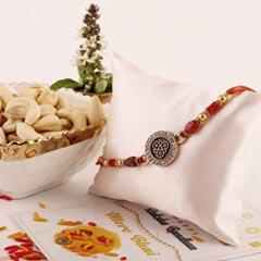 Three Flower Rakhi & Cashew