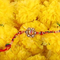 Elegant Ganesha Studded Rakhi - Send Rakhi to Canada
