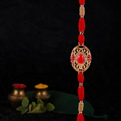 Red & Gold Rakhi - Send Rakhi to Canada