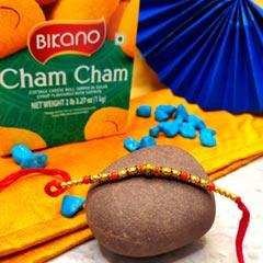Chum Chum with Beaded Rakhi Thread