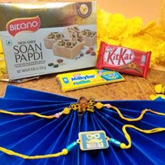 Rakhi Set with Trio Sweet N Chocolate
