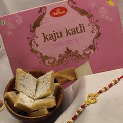 Ganesha Rakhi with Kaju Katli
