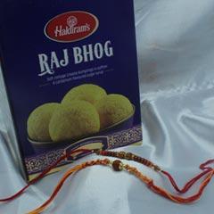 Set of 2 Rakhi with Raj Bhog