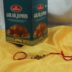 Gulab Jamun with Designer Rakhi