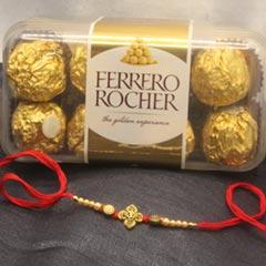Beautiful Rakhi with Ferrero