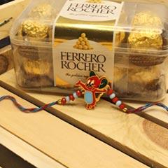 Mickey Mouse Rakhi with Ferrero