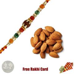 Ethnic Rakhi with 200 grams Almonds