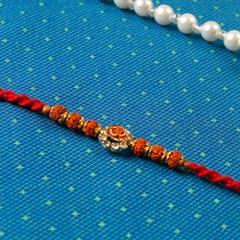Om Diamond Traditional Rakhi- For Europe