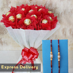 Rakhi with Ferrero Bouquet
