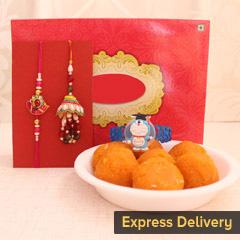 Family Bliss Combo - Send Lumba Rakhi Online