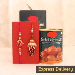 Elegant and Sweet Combo - Send Lumba Rakhi Online