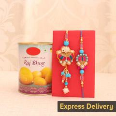 Bond of Love Rakhi Set - Send Lumba Rakhi Online