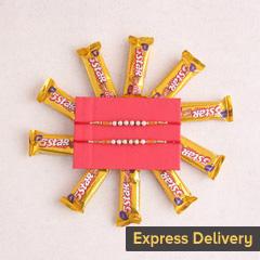 Rakhi Combo with 5 star chocolates