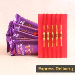 A heartfelt combo of Rakhi and chocolates