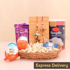 Felicitous Bhaiya-Bhabhi Rakhi Hamper