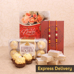 Best Wishes Combo for Brothers - Bracelet Rakhi