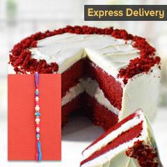 Rakhi with a special cake - Rakhi with Cake