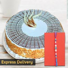 Heart touching Rakhi Hamper - Rakhi with Cake