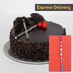 Special Rakhi combo - Rakhi with Cake