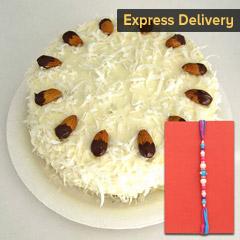 Thoughtful Rakhi combo - Rakhi with Cake