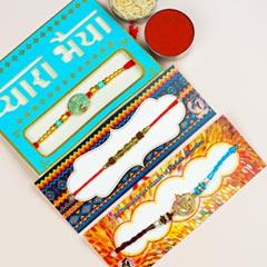 Divine Collection Of 3 Rakhi