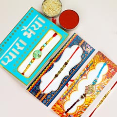 Traditional Collection Of 4 Rakhi