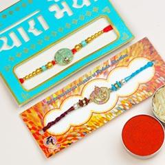 Pair of 2 Traditional Rakhis - Send Rakhi to New Zealand