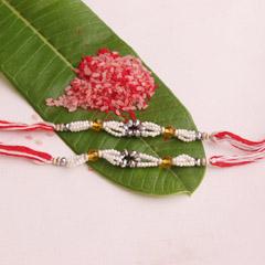 Pearl Beads String Special Beaded Rakhis