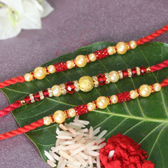 Beaded Pearl Rakhis for Brothers