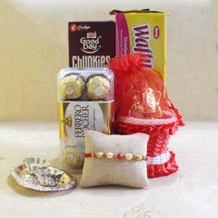 Bundle of Joy - Rakhi with Cookies