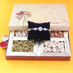 Wow Rakhi Surprise - Send Silver Rakhi Online