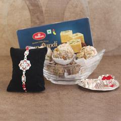 Rakhi with Papdi & Mewa - Send Silver Rakhi Online