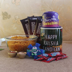 Surprise for Lil Bro - Rakhi with Cookies