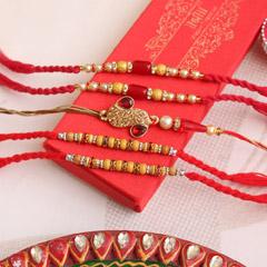 Golden Love - Send Rakhi to Indore