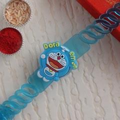 Doremon Bracelet Rakhi - Send Kids Rakhi Online
