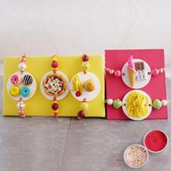 Rakhi Set for Foodie Brothers - Set of 5 Rakhi