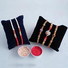 Sophisticated Beaded Rakhi Set of 5