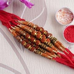 Divine Rudraksha Rakhi Set of 12 - Rakhi Sets