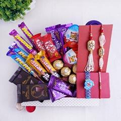 Chocolaty Surprise Hamper for Bhaiya Bhabhi