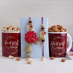 Bhaiya Bhabhi Rakhi with Mugs and Dry Fruits