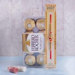 Golden Rakhi with Ferrero Rocher