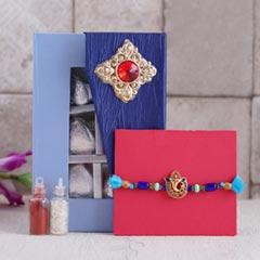 Ganesha Rakhi with Assorted Chocolates