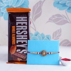 Ganesha Rakhi with Hersheys Chocolate