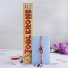 Designer Rakhi with Toblerone Chocolate