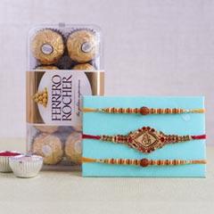 Ferrero Rocher with Rakhi Set of Three